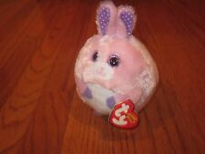 "* NEW *  TY BEANIE BALLZ CARNATION PLUSH PINK BUNNY 6"" *"