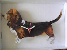 Basset Hound Dog Wall Clock. New & Boxed