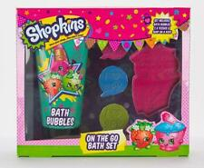 ** SHOPKINS ON THE GO BATH SET BUBBLES FIZZERS & SOAP ON A ROPE NEW ** GIFT KIDS
