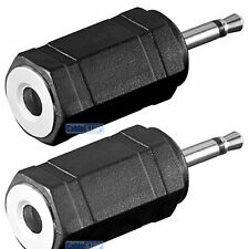 2 x MONO 3.5mm Female Socket to 2.5mm Mini Jack Male Plug Adapter