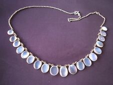 Stunning Silver necklace with 19 graduated Moonstone pendants