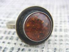 schöner alter Ring 835/-Silber Bernstein  ca. 60er Jahre Handarbeit