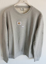 New Acne Studios Casey Emoji Sweatshirt Crew Sweater Grey Melange Size M Medium