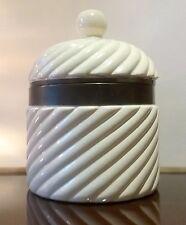 STUNNING Autentic Tommaso Barbi  Italian Ceramic & Brass Ice Bucket