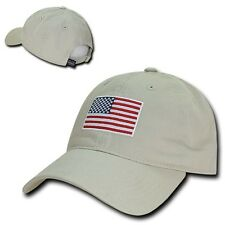 Stone USA US American Flag Patch United States America Polo Baseball Hat Cap