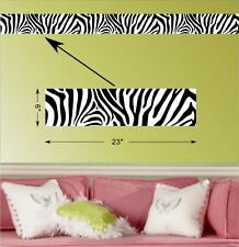 Wall BORDER ZEBRA **NEW** Decal Kids Room Den EDGING STICKER ANIMAL SAFARI DECOR