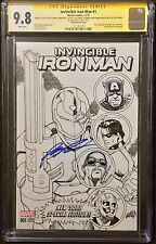 Invincible Iron man 1 CGC 9.8 SS signed by Rob Liefeld & Remarks by Others