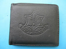 ISRAEL IDF ARMY - SOLDIERS BLACK WALLET W/ ZAHAL SIGN ! AUTH. NEW.UNIQUE.AMAZING