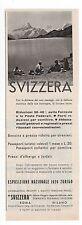 Pubblicità epoca 1939 SVIZZERA TURISMO VIAGGIO reklame advert werbung publicitè
