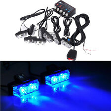 8 LED Strobe Flash Lights Dash Car Truck Emergency Flashing Warning Light Blue