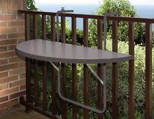 ALCO Balkonhängetisch 100x50 anthrazit Kunststoffplatte