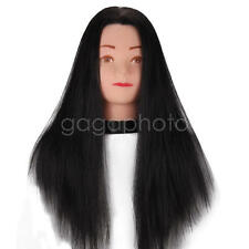Practice Training Head Human Long Hair Model Hairdressing Mannequin Doll Clamp