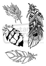 A6 'Intricate Feather' Unmounted Rubber Stamp (SP00001242)