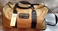 Pierre Cardin Unisex Beige & Brown Travel Duffle Bag NWT