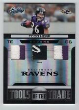 TODD HEAP 2011 Panini Absolute TRIPLE LOGO PATCH #6/10 Tools of The Trade Ravens