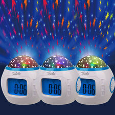 Music Led Star Sky Projection Digital Alarm Clock Calendar Thermometer for Kids