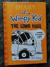 Jeff Kinney Diary Of A Wimpy Kid The Long Haul (2014) Autographed!!