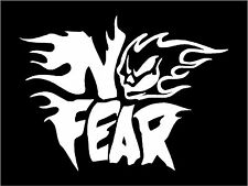 No Fear Sticker Decal Graphic Vinyl Label V5 White