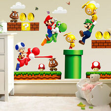 Removable Super Mario Bros for Child Bedroom Livingroom Home Decor Wall Sticker