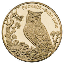 Poland 2 Zlote Animals of the World: Eagle Owl (Bubo bubo) - Puchacz 2005 UNC