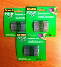 3 Pacchi di 3-SCOTCH POP UP NASTRO DISPENSER RICARICHE / pre-tagliati strisce sellotape