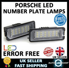 PORSCHE CAYMAN 987 LED NUMBER PLATE LIGHTS LAMPS UPGRADE BULBS XENON WHITE