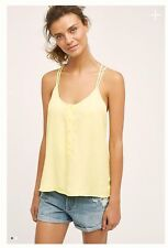 NWT Anthropologie Cloth and Stone Yellow Crossback Cami Tank Top Sz Small