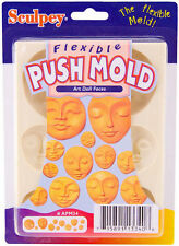 Sculpey Flexible Push Mold ART DOLL FACES 12 Faces in various sizes Polymer Clay
