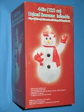 """LIGHTED SNOWMAN INFLATABLE - 48"""" TALL - BRAND NEW IN BOX !"""