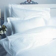 KING SIZE WHITE STRIPE DUVET SET+FITTED SHEET 1000 TC 100% EGYPTIAN COTTON