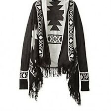 ROMEO AND JULIET COUTURE AZTEC PRINT FRINGE OPEN CARDIGAN NWT$130 MISSES M/L