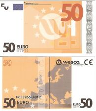 Europe 50 euro polymère wesco type 1 neuf unc educational test note billet