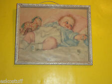 Maud Tausey Fangel Baby Early 1940s Color Print Great Image! Nice See!