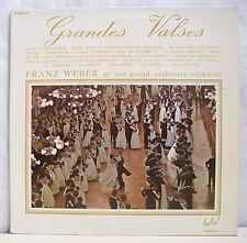 """2 x 33T FRANZ WEBER Disques LP 12"""" GRANDES VALSES VIENNOIS Classique FESTIVAL116"""