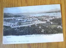 CARTOLINA LA SPEZIA PANORAMA CON L'ARSENALE RARA VIAGGIATA 1907 SUBALPINA QQ
