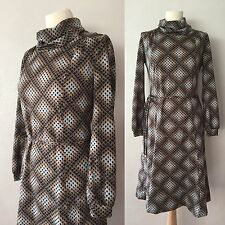 True Vintage Late 60's/Early 70's Trevira Funky Retro Print Dress