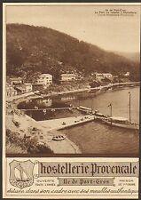 ILE DE PORT-CROS HOSTELLERIE PROVENCALE PUBLICITE 1930