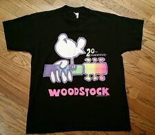 Woodstock 20th Anniversary T-Shirt tee Men Large vintage 1989/music concert/rare