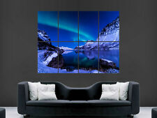 SKY NIGHT ICELAND WINTER NORTHERN LIGHTS WALL POSTER ART PICTURE PRINT LARGE