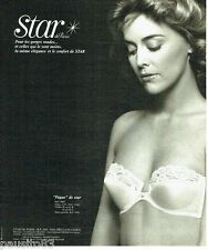 PUBLICITE ADVERTISING 116  1978   Star  soutien gorge Fugue sous vetements