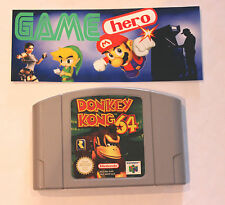 DONKEY KONG 64 NINTENDO 64 N64 PAL TESTED WORKING 1999 VERY RARE