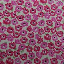 Poppy Flower - 100% Cotton Fabric per metre, crafts, quilts uk seller 1st p&p