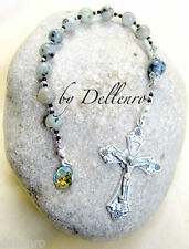 ✫SESAME JASPER✫  HAND CRAFTED ONE DECADE TENNER ROSARY CHAPLET