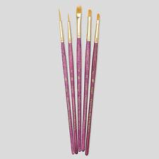 Princeton Art Pinceaux 5 set cheveux synthétiques Aquarelle Acrylique Peinture à l'huile 9184