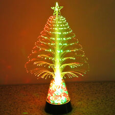 Colorful LED Fiber Optic Nightlight Christmas Tree Lamp Light Children Xmas NEL