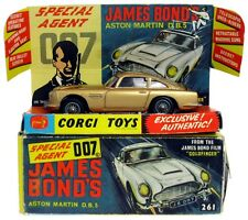 Vintage 1965 Corgi 261 James Bond 007 Goldfinger Aston Martin DB5 w/Insert & Box