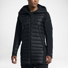 Men's Nike Sportswear Tech Fleece AeroLoft Down Parka Black Size XXL 822243 010