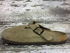 Birkenstock Size 38 (EU) 7-7.5 (US) Brown Nubuck Boston Taupe Clogs Sandals