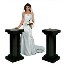 3 Feet Black Look Fluted 2 Set Columns Wedding Party Decoration Celebration New