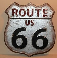 Galvanized Embossed ROUTE 66 Chevy Ford Harley Garage Man Cave Texaco gas oil